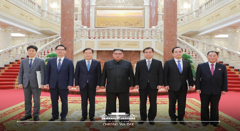 The special delegation returns to the South after delivering President Moon's personal letter to the North Korean leader