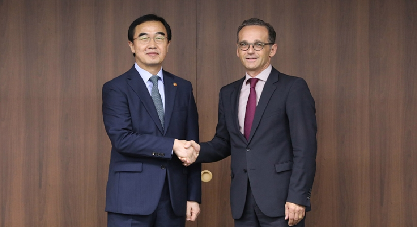 Unification Minister Cho meets with German Foreign Minister Heiko Maas