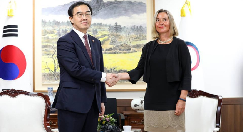 Unification Minister Cho meets with EU High Representative for Foreign Affairs
