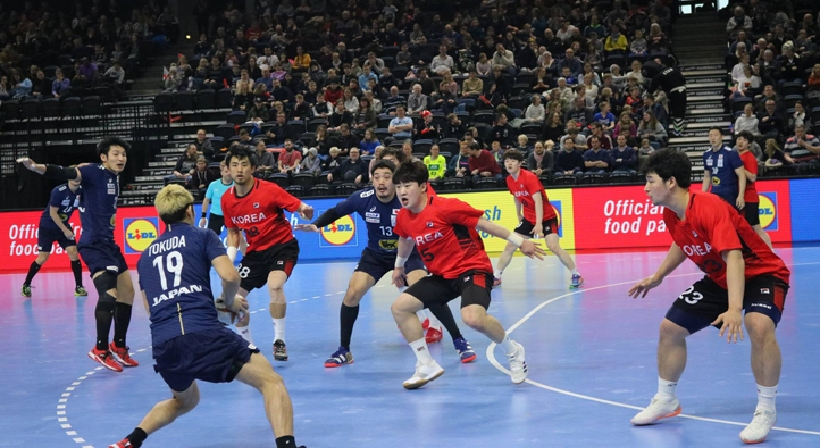Unified Korean men's handball team scores first victory at the Handball World Championship in Denmark