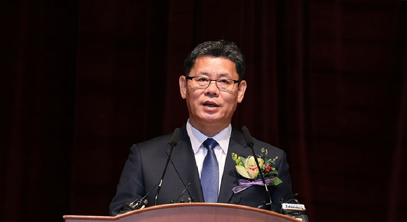 Inauguration ceremony for the 40th Minister of Unification, Kim Yeon Chul