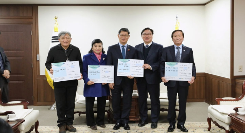 Unification Minister Kim meets with Gyeonggi Vice Governor for Peace Lee Hwa-young