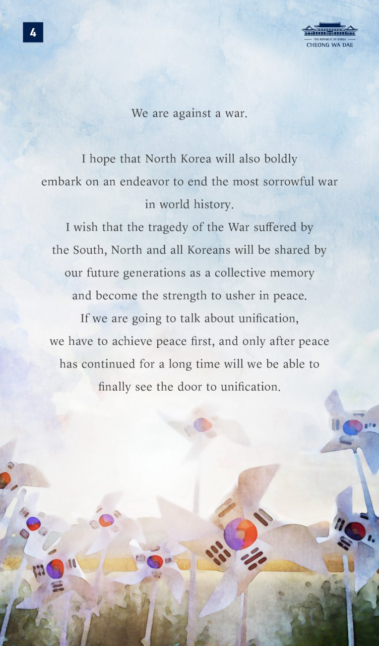 6.25 Address by President Moon Jae-in on 70th Anniversary of Korean War